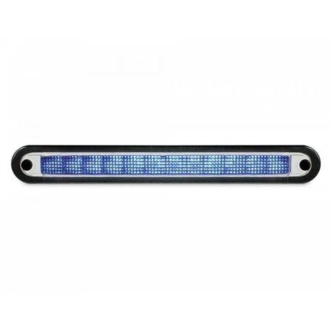 Hella LED Wide Rim Strip Warning Lamp - Blue - 12v
