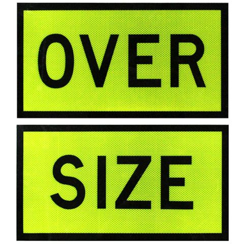 Oversize Signs 550 x 300 (Pair) - Alloy