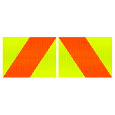 Hazard Panels 400 x 300 Double Sided (Pair) - Alloy