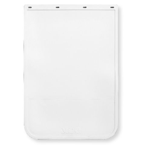24x36 White Mud Flap - Rubber