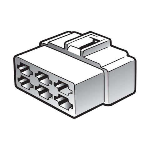 6 Way Female Quick Connector Housing (10 Pack)
