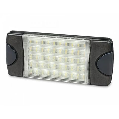 Hella DuraLED Combi-S White 50 LED Lamp - Wide Spread - Charcoal Lens