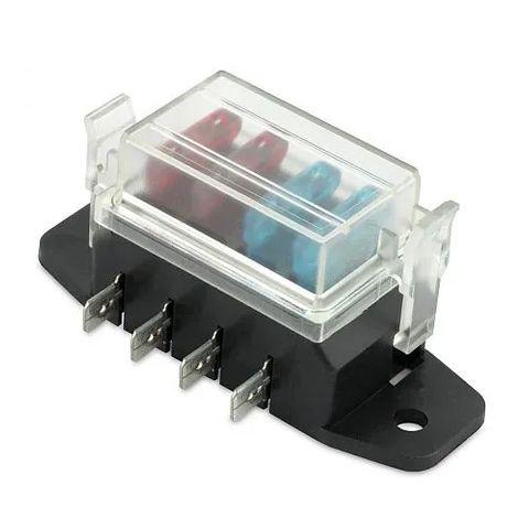 Hella Blade Fuse Box - 4 Fuses - Side Connectors