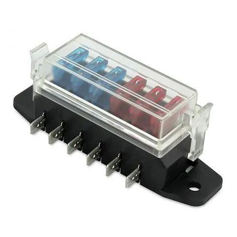 Hella Blade Fuse Box - 6 Fuses - Side Connectors