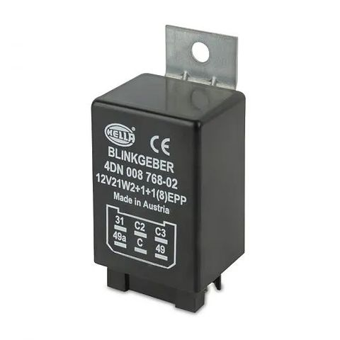 Hella Electronic Flasher Unit - 12V 6 Pin - 2+1+1