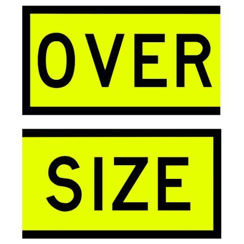Oversize Signs 550 x 300 (Pair) - PVC