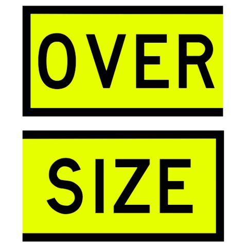 Oversize Signs 550 x 300 (Pair) - Stickers