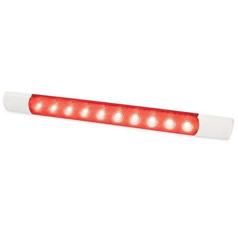 Hella LED Courtesy Surface Mount Strip Lamp - 24 Volt - Red Light