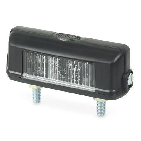 Hella Number Plate Lamp - 12V Bulb - Two Bolt Mount