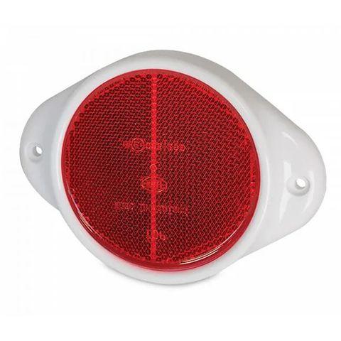 Hella Retro Reflector, 83mm diameter - Red - Horizontal mount (Plastic Surround)