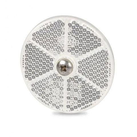 Hella Retro Reflector - 60mm diameter - White - Screw Mount