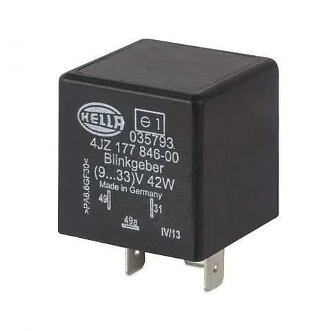 Hella Electronic Flasher Unit - 9-33V 3 Pin