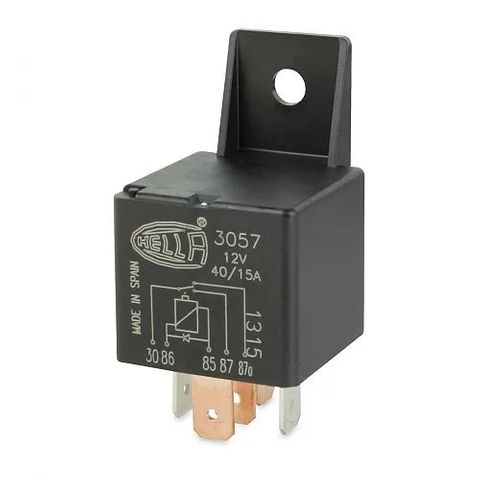 Hella 12V 5 Pin Change-over Mini Relay - 40/15A - Diode