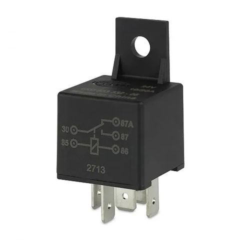 Hella 24V 5 Pin Change-over Mini Relay - 20/10A