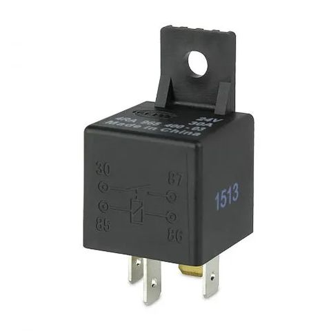Hella 24V 4 Pin Normally Open Mini Relay - 30A