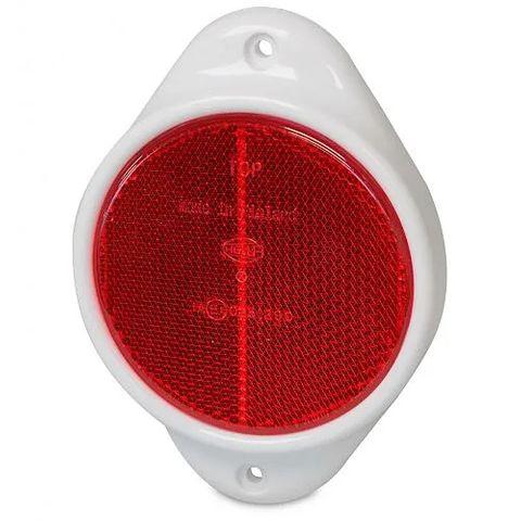 Hella Retro Reflector, 83mm diameter - Red - Vertical mount (Plastic Surround)