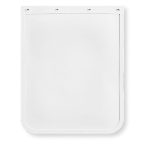 24x30 White Mud Flap - Rubber