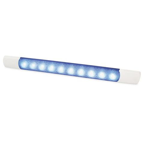 Hella LED Courtesy Surface Mount Strip Lamp - 12 Volt - Blue Light