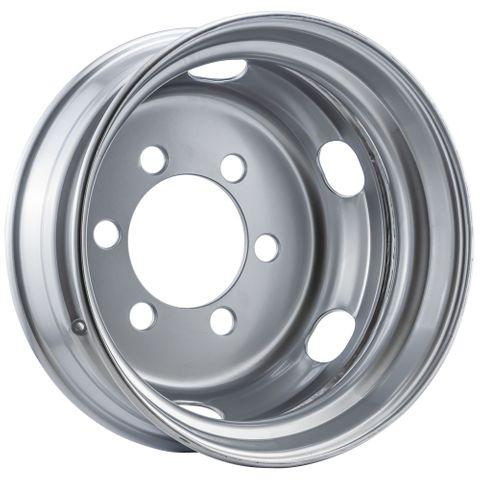 19.5 x 6.75, 6 Stud, 32mm J-Budd, 222.22mm PCD, Steel Wheel