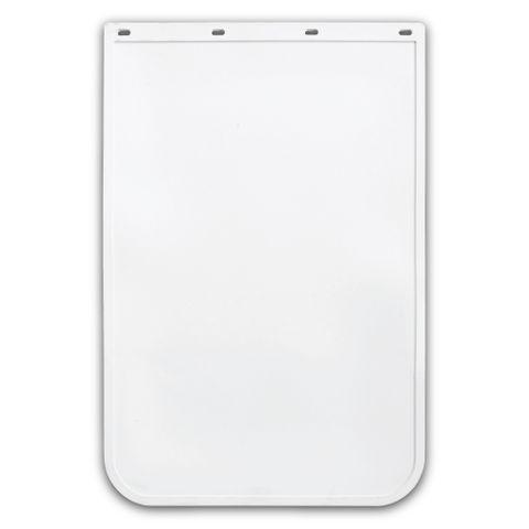 24x36 White Mud Flap - Rubber Anti Spray