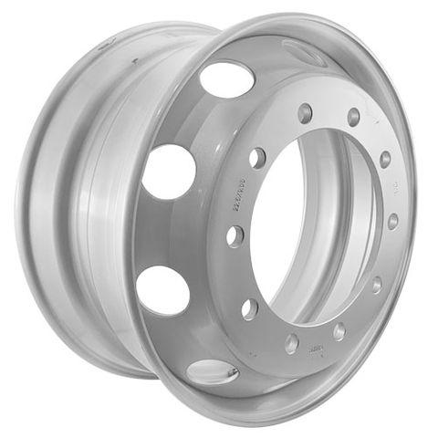 22.5 x 9.0, 10 Stud, 24mm, 335mm PCD, Steel Wheel