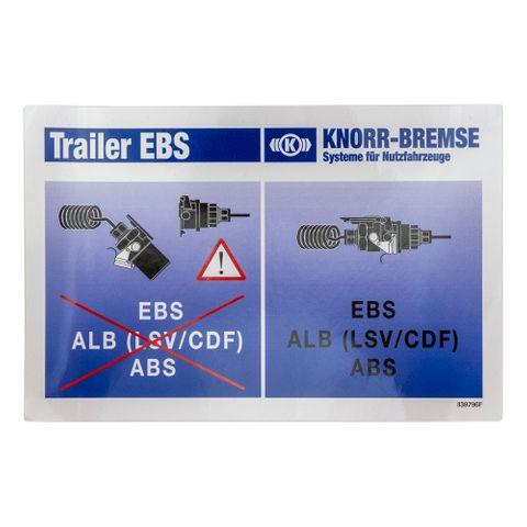Knorr-Bremse TEBS Power Supply Information Sticker II39796F