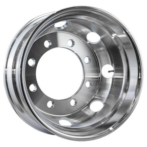 19.5 x 7.5, 8 Stud, 32mm, 275mm PCD, Machined Alloy Wheel