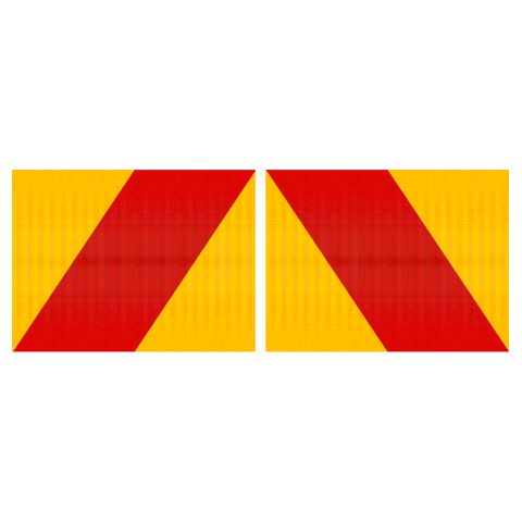 Australia Hazard Panels 400 x 300 Single Sided (Pair) - Aluminium