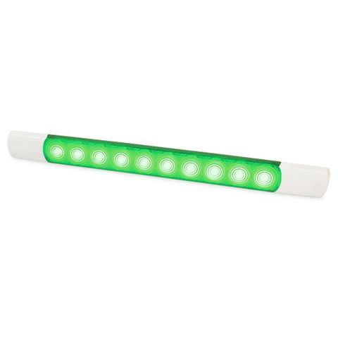 Hella LED Courtesy Surface Mount Strip Lamp - Green