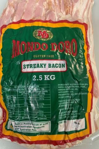 STREAKY BACON FREE RANGE 2.5kg