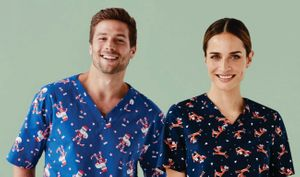 Christmas Scrub Tops