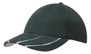 Brushed Heavy Cotton Cap With Laminated Two-Tone Peak
