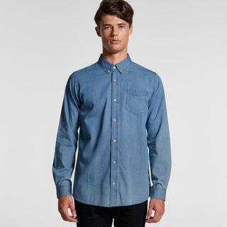 Men's Blue Denim Shirt