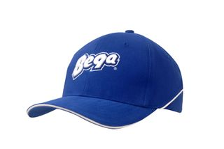 Brushed Heavy Cotton Cap with Crown Piping and Sandwich