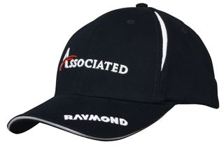Brushed Heavy Cotton Cap With Crown Inserts and Sandwich