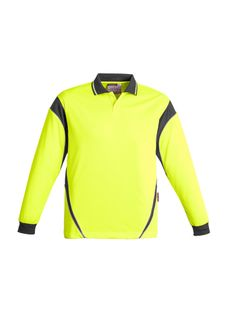 Men's Hi Vis Aztec Polo - Long Sleeve