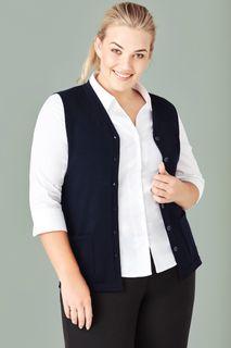 Women's Button Front Knit Vest