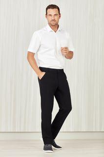Men's Comfort Waist Flat Front Pant