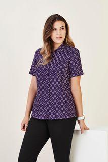 Women's Florence Daisy Print Short Sleeve Shirt