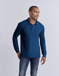 Adult Double Pique Long Sleeve Sport Shirt
