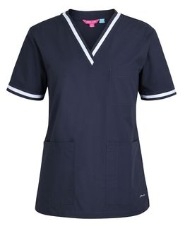 JB's Contrast Ladies' Scrubs Top