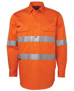 JB's Hi-Vis (D+N) Close Front L/S Shirt 190G