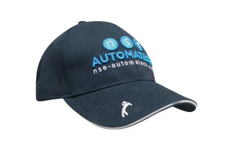Chino Twill Golf Cap With Peak Embroidery