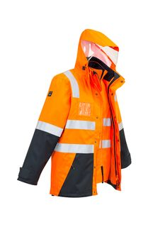 Men's Hi Vis 4 in 1 Waterproof Jacket