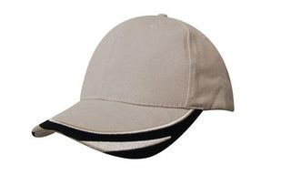 Brushed Heavy Cotton Cap With Peak Trim Embroidered CLEARANCE