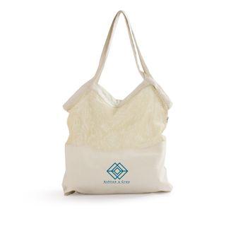 Mixed Mesh/Canvas Tote Bag