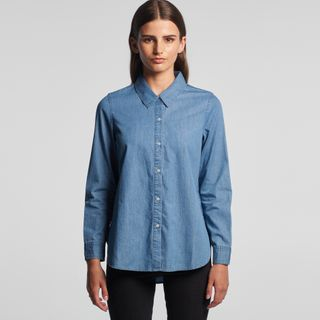 Blue Denim Womens Shirt