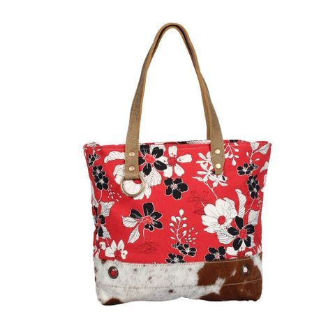 Coral Flower Tote Bag - S-1378