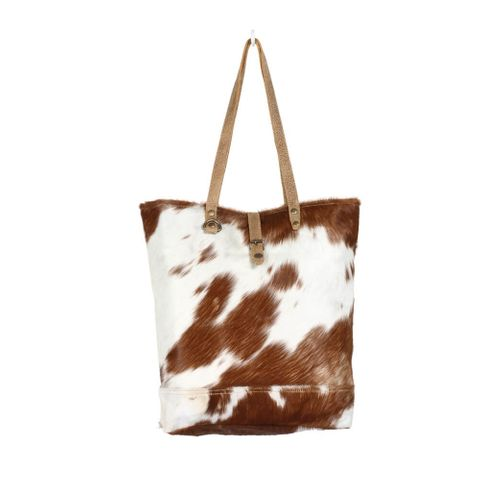 Women's Chestnut Cowhide Tote Bag - S-1285