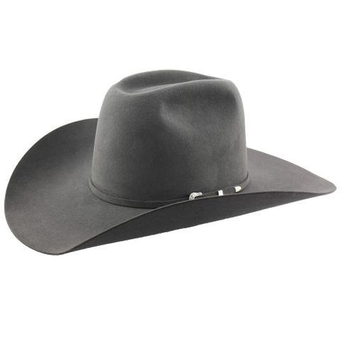 """6X Granite 4 3/8"""" Brim Cowboy Hat - 6X438GRANITE"""